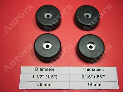 """4 Rubber Feet (1.5"""" x 0.56"""") Amplifier, Receiver, Speaker, Electronic Components"""