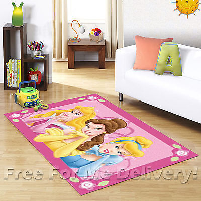 KIDS EXPRESS DISNEY PRINCESS PINK FLOOR RUG (XS) 100x150cm **FREE DELIVERY**