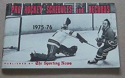 Pro Hockey schedules and records the sporting news 1975-76