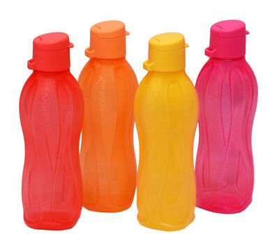 Tupperware Flip Top Water Bottles ( Set of 4 Bottles ) 25 Oz - 750 ml