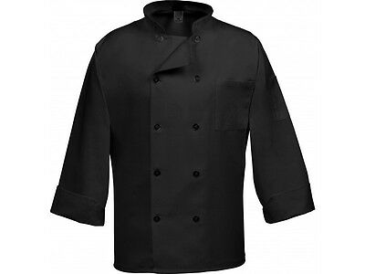 Brand New  Black Chef Coat 10 Buttons Long Sleeves Size 2XL