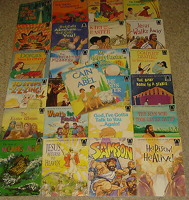 Lot - 25 Arch Childrens Bible Story Books Religious Set Vintage