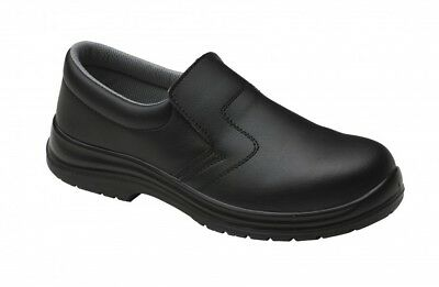 Food Industry Safety Work Shoes Chef's Catering Hospital Black Anti Slip FW81