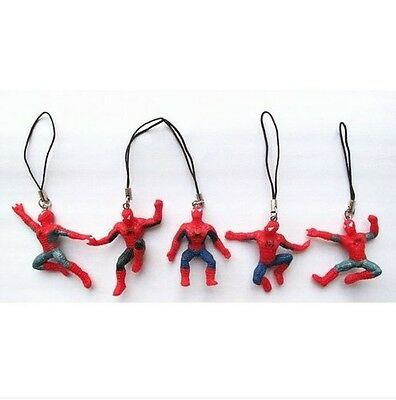 Lot 100 pcs Spider-Man figures mobile phone Strap Charms