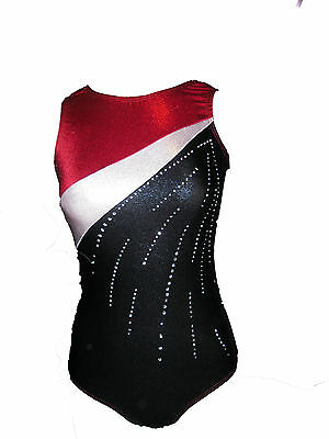 Red 3Color Gymnastics Leotards
