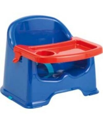 Strata Little Stars Baby Basic Booster Seat with Feeding  & Play Tray - Blue
