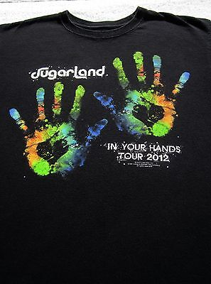 SUGARLAND in your hands 2012 tour LARGE concert T-SHIRT