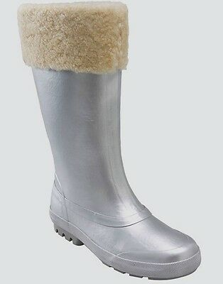 f0720a999e3 UGG MILLCREEK SHEARLING Lined Rain Boots Wellies Translucent White ...