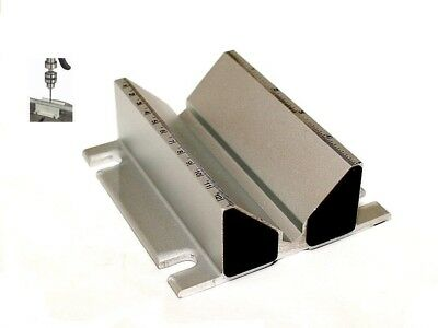 (NEW) Self-Centering Drill Press Jig Vise Pipe Round Stock Extruded Aluminum