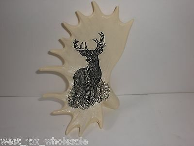 """Collectible Hunting Deer On Antlers Figurine Figure Decor Outdoor Gift 4.5"""" New"""