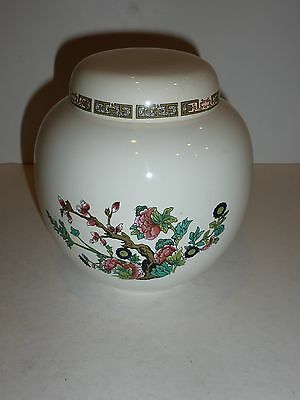 Vintage Honiton Devon Indian Tree Ginger Jar-Flaws