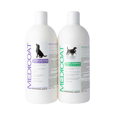 Dog & Puppy Medicated Shampoo and Soothing Conditioner for itchy flaky skin