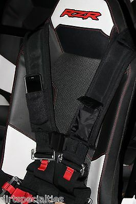 """NEW POLARIS Seat Belt SAFETY Harness 4 Point 3"""" Padded  RZR4 XP900 XP1000 CANAM"""