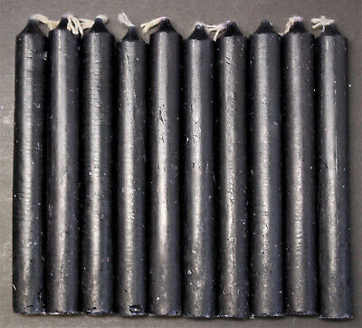"Lot of 10 Chime Spell Candles: Black, Mini 4"" (NEW) Pagan, Wicca, Altar, Ritual"