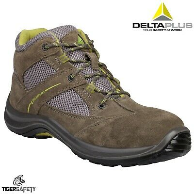5c78dcbc46b DELTA PLUS MAZAN S1P Grey Suede Wide Fitting Mens Steel Toe Safety ...