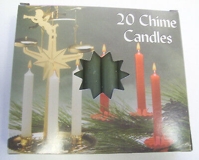 """Chime Spell Candles: Dark Green, Mini 4"""" Box of 20 (NEW) Pagan, Wicca, Altar"""