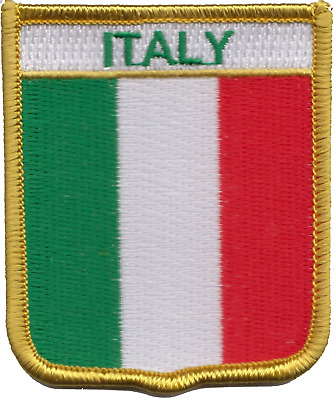 Italy Flag Shield Embroidered Patch Badge *