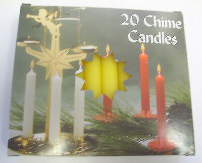 """Chime Spell Candles: Yellow, Mini 4"""" Box of 20 (NEW) Pagan, Wicca, Altar"""
