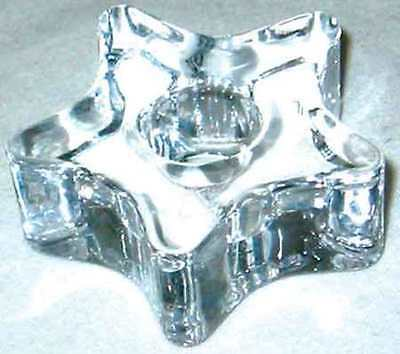 """Clear Glass Star Mini Ritual Chime Candle holder 1/2 """" Diameter Pagan Wicca"""