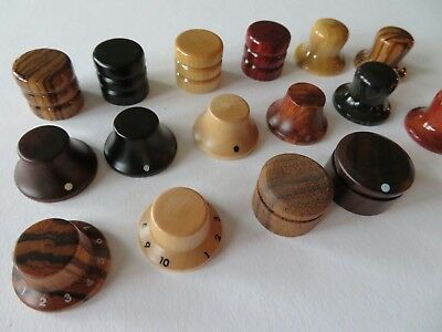 (1) Guitar & bass quality control knobs made from wood various models new