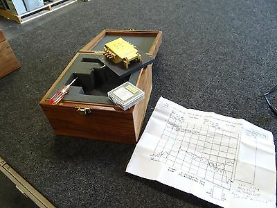 ICM Inter-Continental Microwave Test Fixture TFP-1217A in wooden Box