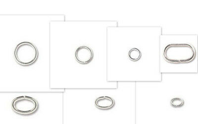 Jump Rings - round & oval - s/p - various sizes
