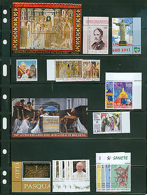 Vatican City 2013 Compete MNH Year Set