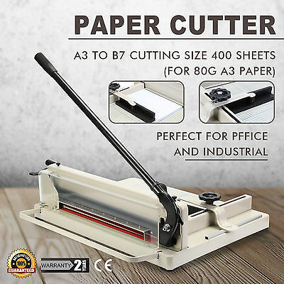 "Heavy Duty Guillotine Paper Cutter - 17"" Commercial Metal Base A3/A4 Trimmer"