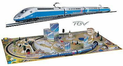 Mehano T364 - TGV Duplex Bullet Train Starter Set with Scenic Layout  H0 Scale
