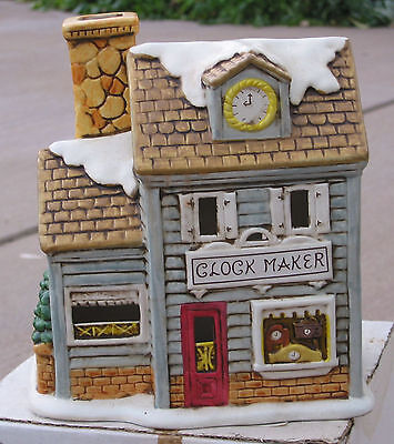 Colonial Village Collection CLOCK MAKER accessories train USED TWD 06899 ns