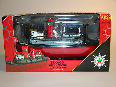 2002 Texaco American Tugboat Bank  Third In Series Mint In The Box