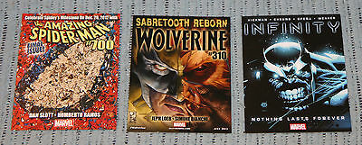 PROMO CARDS AMAZING SPIDER-MAN #700 FINAL ISSUE WOLVERINE 310 INFINITY 1 THANOS