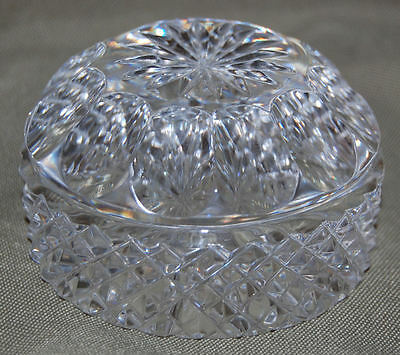 4. BEAUTIFUL LEADED CRYSTAL PAPERWEIGHT STAR TOP PATTERNED SIDES