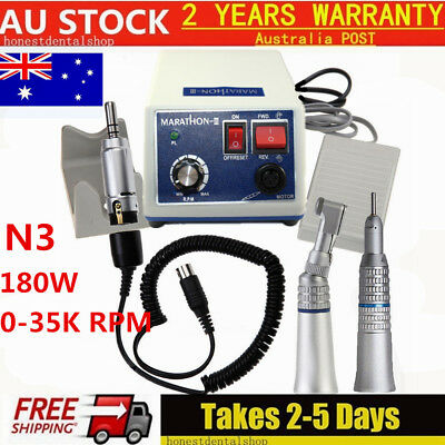 Dental Marathon MicroMotor Polisher 35k N3 +Contra Angle+Straight Handpiece 180W
