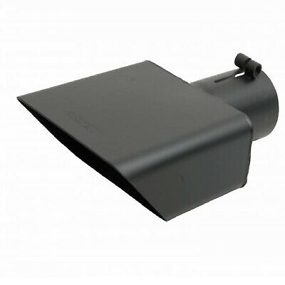 """GIBSON 500365-B Universal Black Square Exhaust Tip 2.5"""" IN/6 x 2.75"""" OUT-RIGHT"""