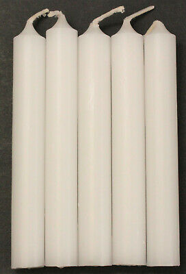 """Lot of 5 Chime Spell Candles: Bright White, Mini 4"""" Pagan, Wicca, Altar, Ritual"""