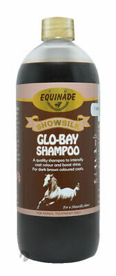 Equinade Showsilk GLO BAY shampoo Horses pony Dogs Cats cattle show dye 1lt