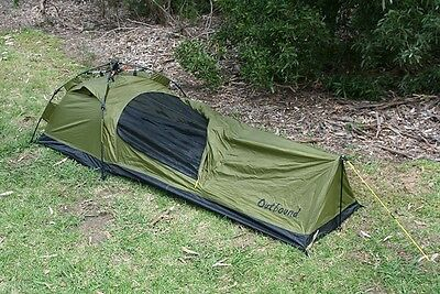 Brand New Outbound Quick Setup Bivy Swag Tent With Headroom Green Army Camping