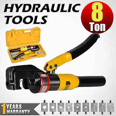 9 Die 8 Ton Hydraulic Crimper Cable Wire Force Crimping Tool Kit 4mm-70mm
