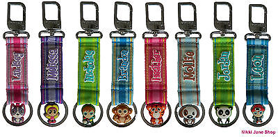 Personalised Name Keyring / Key Pals / Key Fob / Bag Charm - Names A ~ E - NEW