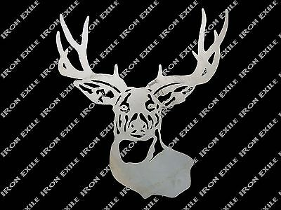 Deer Buck Head Metal Art Wall Sign Cabin Hunting Lodge Decor Christmas Gift