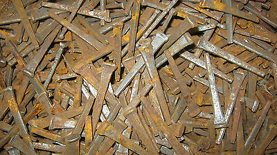Lot of 65 Antique Square Head Nails 2 1/4'' long – w. Surface Rust Crafts