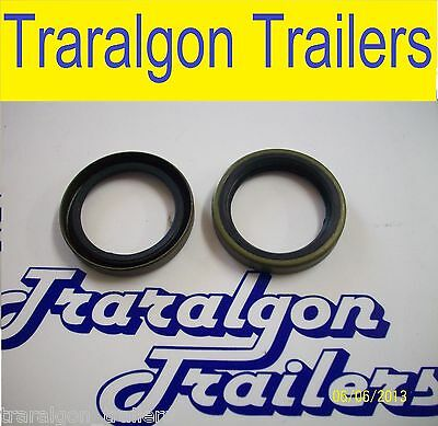 2x grease seal SL trailer axle wheel bearing hub drum oil ford holden LC N18