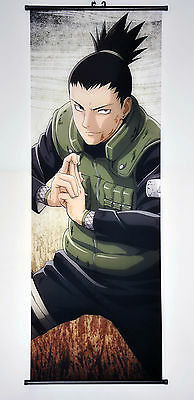 Wall Scroll Poster Fabric Painting Anime Naruto Nara Shikamaru 49.2 X17.7 inches