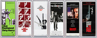 DIRTY HARRY movie posters SET of SIX LARGE FRIDGE MAGNETS - CLINT EASTWOOD