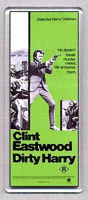 DIRTY HARRY movie poster LARGE FRIDGE MAGNET style 'A' - CLASSIC!