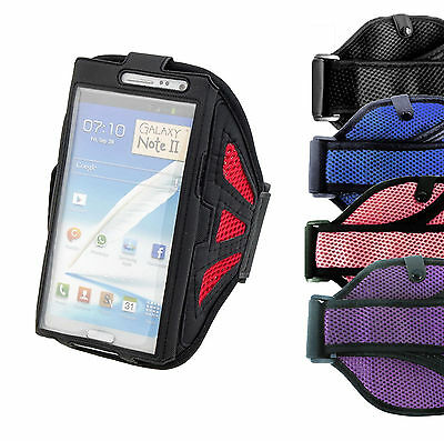 Running Gym Armband Case For Samsung Galaxy Note 2 3 4 5 Workout Jogging Cover