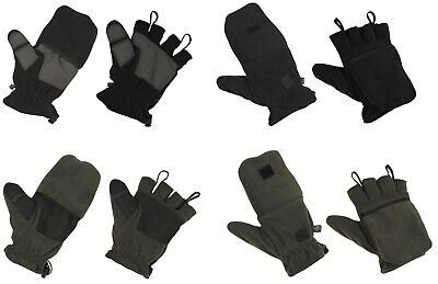 FLEECE HANDSCHUHE Fäustlinge Fingerhandschuhe fingerlos Herren Damen Winter