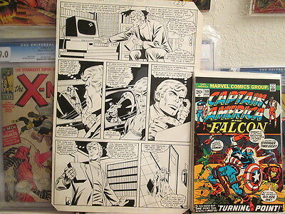 Captain America 211 Page #17 Jack Abel 1982 Pencil & Ink Marvel Comics B&W Art