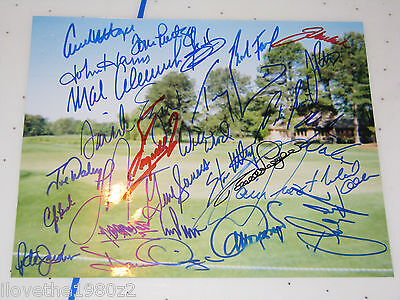 PGA GOLF SIGNED 28 GOLFERS INPERSON  Autographed  INPERSON PHOTO